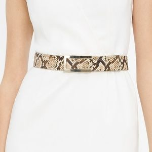 NWT WHBM Leather Exotic Print Belt
